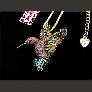Betsey Johnson Hummingbird Necklace